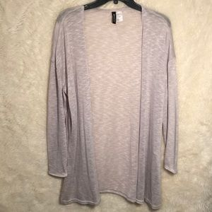 H&M Gray Open Front Cardigan